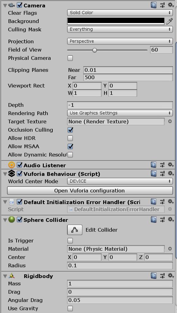 Unity Vuforia come programmare ARKit Portal per iOS e Android